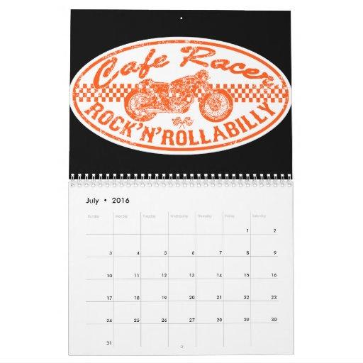 Raza de la motocicleta calendarios de pared