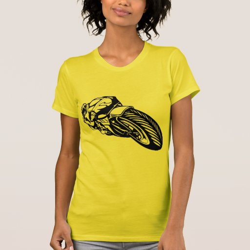 Raza de la motocicleta t-shirt