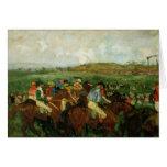 Raza de los caballeros. Antes de la salida, 1862 Tarjeton