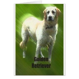Raza de Marley del golden retriever Tarjeta De Felicitación