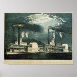 Raza de medianoche en el Mississippi, 1875 Póster