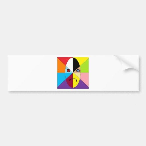 raza del arco iris pegatina de parachoque