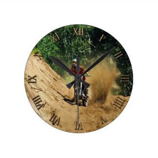 Raza del campeón de la Suciedad-Bici del motocrós Reloj Redondo Mediano