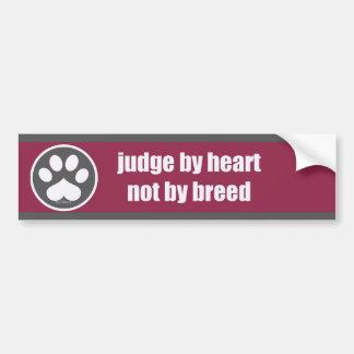 Raza del corazón no - Rsp/Gry Pegatina Para Auto