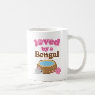 Raza del gato de Bengala amada por un regalo Taza De Café