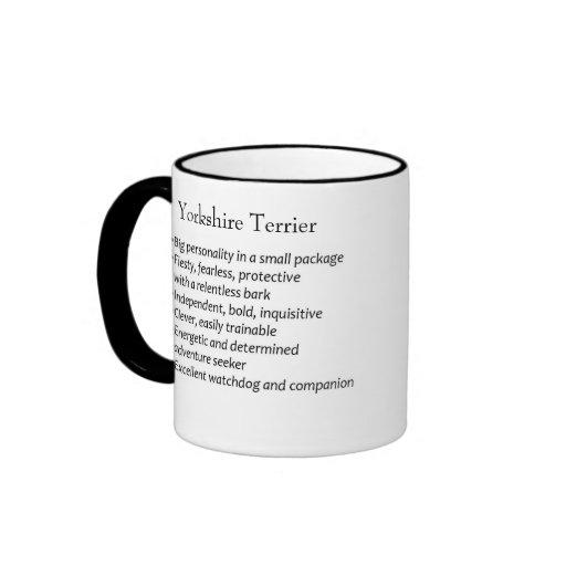 Raza del perro de los terrieres de Yorkshire de la Tazas De Café