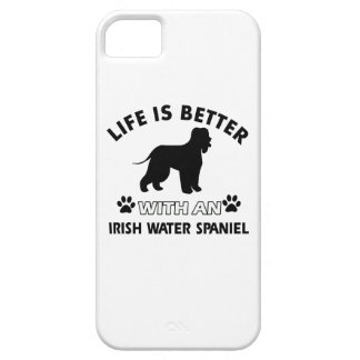 Raza del perro del perro de aguas de agua irlandes iPhone 5 funda