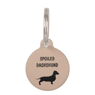 Raza divertida del Dachshund del perro Placas De Mascota