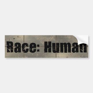 Raza: Humano Pegatina De Parachoque