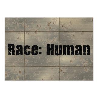 "Raza: Humano Invitación 5"" X 7"""