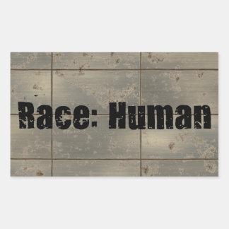 Raza: Humano Pegatina Rectangular