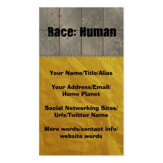Raza: Humano Plantilla De Tarjeta De Visita