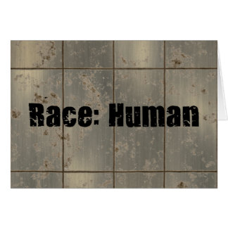 Raza: Humano Tarjeta De Felicitación