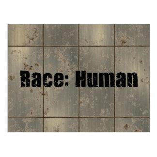 Raza: Humano Tarjeta Postal