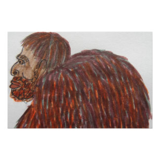 raza mixta alta Homo erectus de 9 ft/274 cm Póster