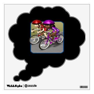 Raza para mujer de la bici vinilo