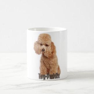 razas del caniche de juguete taza básica blanca