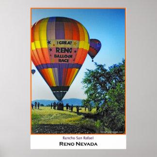 Razas del globo de Reno Póster