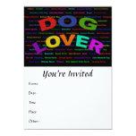 Razas del perro del amante del perro invitación 12,7 x 17,8 cm