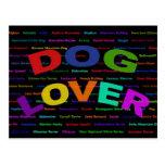 Razas del perro del amante del perro postales