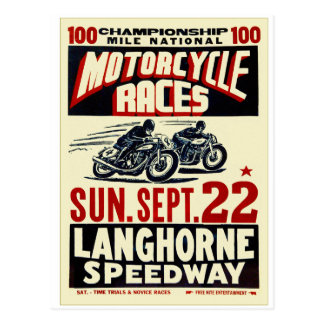 Razas retras de la motocicleta de Langhorn del Tarjetas Postales