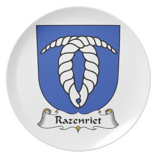 Razenriet Family Crest Party Plates
