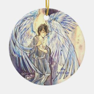 Raziel Double-Sided Ceramic Round Christmas Ornament