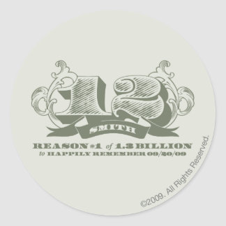 Razón #1 de 1,3 mil millones pegatina redonda