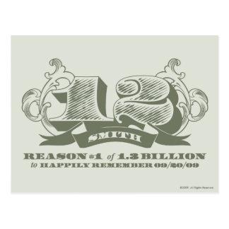 Razón #1 de 1,3 mil millones postal