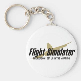 Razón de Flight Simulator que me levanto Llavero Personalizado