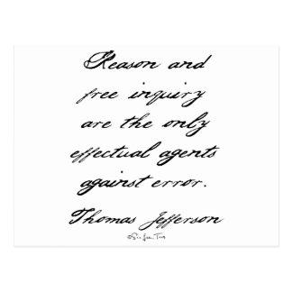Razón de Jefferson Postales
