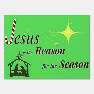 Razón de Jesús del navidad de la muestra de la Letrero