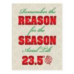 Razón de la postal del solsticio de invierno de la