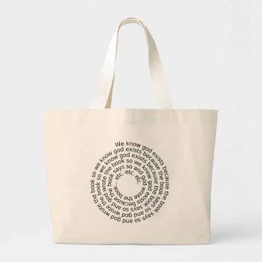 Razonamiento circular (espiral) bolsa tela grande