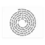 Razonamiento circular (espiral) postal
