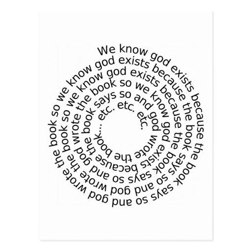 Razonamiento circular (espiral) tarjetas postales