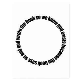 Razonamiento circular postales