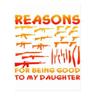 Razones de ser bueno a mi hija postal