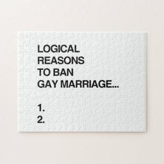 RAZONES LÓGICAS PARA PROHIBIR MATRIMONIO HOMOSEXUA PUZZLE CON FOTOS