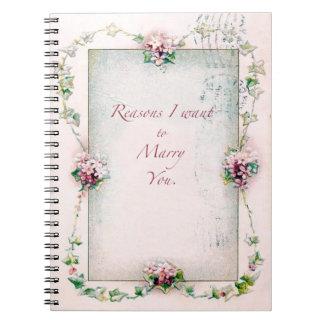 Razones para casarle cuaderno