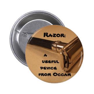 Razor: a useful device from Occam Pinback Button