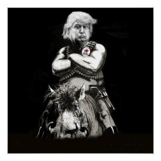 Razor Back Trump Poster