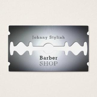 Razor blade barber shop inspired cover business card