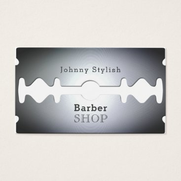 TwoFatCats Razor blade barber shop inspired cover business card
