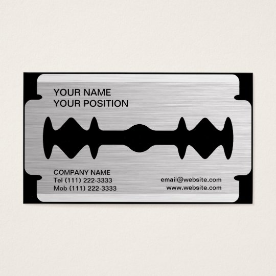 Razor Blade Business Card