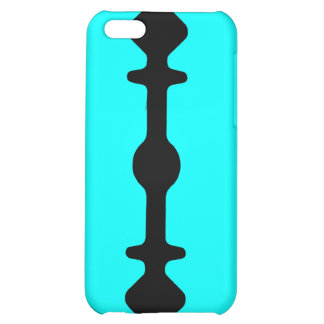 Razor Blade iPhone Case Black Cyan Teal iPhone 5C Case