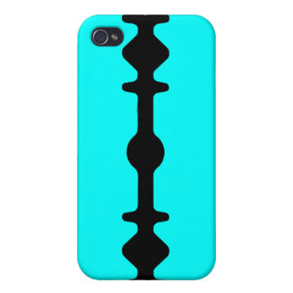 Razor Blade iPhone Case Black Cyan Teal iPhone 4/4S Cases