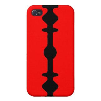 Razor Blade iPhone Case Black Red iPhone 4 Cases