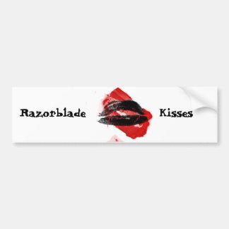 Razor Blade Kisses vampire bumper sticker