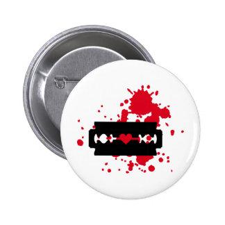 Razor Blade love blood 2 Inch Round Button
